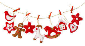 Christmas Hanging Decoration Toy, Isolated White Background, Tra Royalty Free Stock Photos