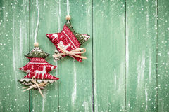 Christmas hanging decoration Stock Photos