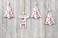 Christmas hanging decoration royalty free stock photos