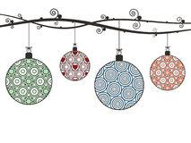 Christmas hanging decorations Stock Photos