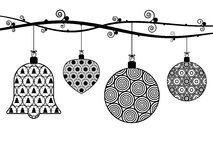 Christmas hanging decorations Royalty Free Stock Image