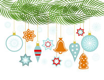 Christmas hanging ornaments Stock Image
