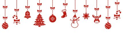Christmas hanging ornaments background Stock Photography