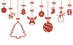 Christmas hanging ornaments background Royalty Free Stock Photography