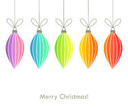 Christmas hanging ornaments background Royalty Free Stock Images