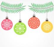 Christmas hanging ornaments Stock Photo