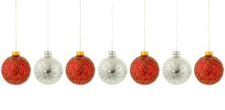 christmas hanging ornaments tree Στοκ φωτογραφίες με δικαίωμα ελεύθερης χρήσης