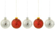 christmas hanging ornaments tree Στοκ Φωτογραφίες
