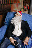 Christmas hangover Stock Photos