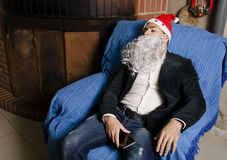 Christmas hangover Royalty Free Stock Photography