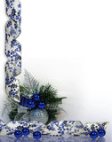 Christmas or Hanukkah Background blue Stock Image