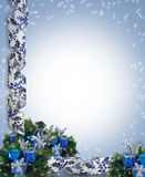 Christmas or Hanukkah Border stock image