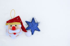 Christmas and Hanukkah holiday decorations on snow Stock Image