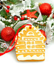 Christmas Happiness concept. With Xmas homey decorations Stock Photography