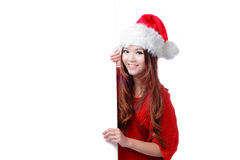 Christmas Happy beauty smile showing  billboard Stock Image