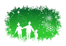 Christmas, happy family Stock Photography