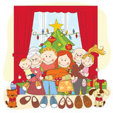 Christmas. Happy family together. Stock Image