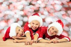Christmas Happy funny children Stock Photography