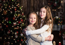 Christmas happy funny children Royalty Free Stock Photo