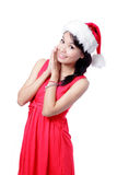 Christmas Happy Girl Stock Image