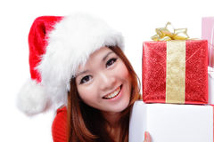 Christmas happy girl smile Stock Image