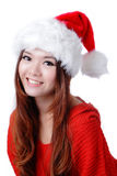 Christmas Happy Girl smile face Royalty Free Stock Photos
