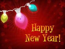 christmas happy lights new year Στοκ Εικόνα