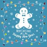 christmas happy merry new year πρόσθετες διακοπές μορφής καρτών Στοκ Φωτογραφία