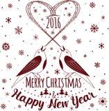 christmas happy merry new year πρόσθετες διακοπές μορφής καρτών Στοκ εικόνα με δικαίωμα ελεύθερης χρήσης