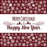 christmas happy merry new year πρόσθετες διακοπές μορφής καρτών Στοκ Φωτογραφίες