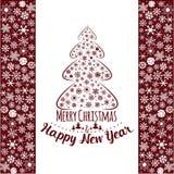 christmas happy merry new year πρόσθετες διακοπές μορφής καρτών Στοκ φωτογραφία με δικαίωμα ελεύθερης χρήσης