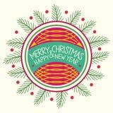 christmas happy merry new year Στοκ εικόνα με δικαίωμα ελεύθερης χρήσης