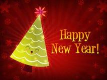 christmas happy new tree year Στοκ Εικόνα