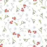 Christmas and Happy New Yea set of modern seamless