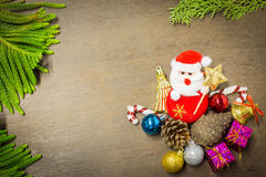 Christmas and happy new year background Stock Image