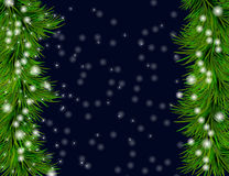 Christmas and happy new year background. Christmas and happy new year dark blue  background with sparkles and Christmas tree Royalty Free Stock Photos