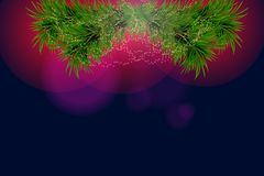 Christmas and happy new year background with sparkles and Christmas tree. Vector illustration Stock Image