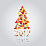 Christmas and happy new year card background 2017. Merry christmas and happy new year card background 2017 vector illustration