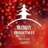 Christmas and happy new year card background 2017. Merry christmas and happy new year card background 2017 stock illustration