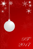 Christmas and Happy New Year card Stock Image