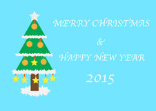 Christmas and happy new year 2015 card Royalty Free Stock Photography