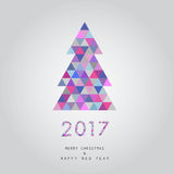 Christmas and happy new year card vector background 2017. Merry christmas and happy new year card vector background 2017 stock illustration