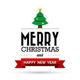 Christmas and Happy new year collection of calligraphic and typo Royalty Free Stock Images