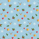 Christmas and Happy New Year colored icons Stock Photography