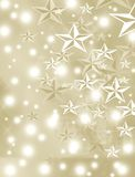 Christmas and Happy New Year decorated with stars Stock Image