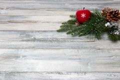 Christmas or Happy New Year decoration background. Composition f stock images