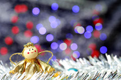 Christmas and Happy New Year decoration. Christmas and Happy New Year decoration with bokhe Stock Images