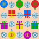 Christmas and Happy New Year decoration royalty free illustration