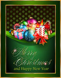 Christmas and Happy New Year Elegant Suggestive Ba. Merry Christmas and Happy New Year Elegant Suggestive Background for Greetings Card Stock Illustration