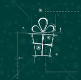 Christmas and happy new year gift circuit. Background Royalty Free Stock Images